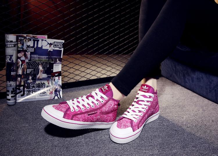 【阿迪达斯三叶草高帮板鞋】-鞋子-女鞋
