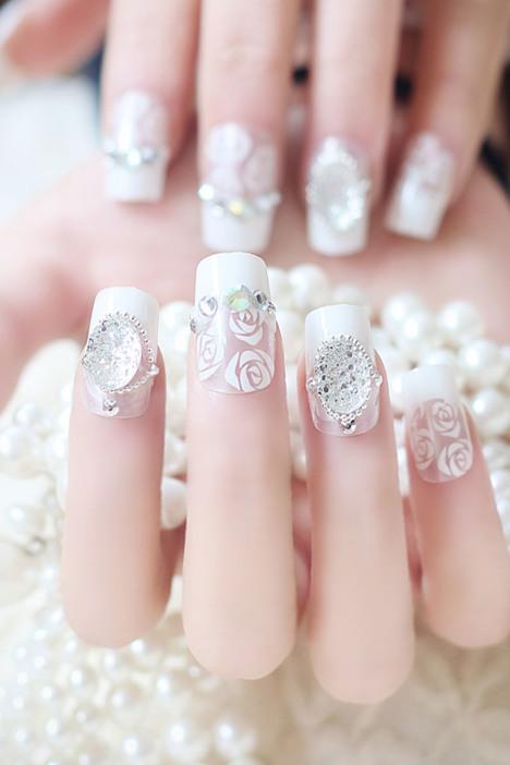 水钻透明假指甲