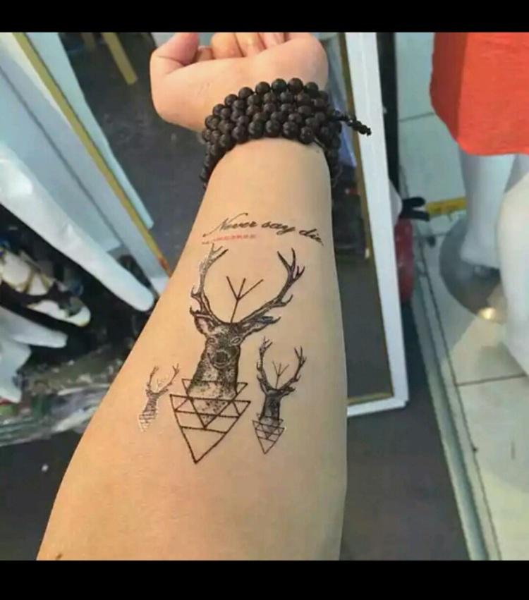防水花臂纹身贴 纹身 麋鹿小鹿 花臂 纹身贴 防水纹身贴纸 刺青贴