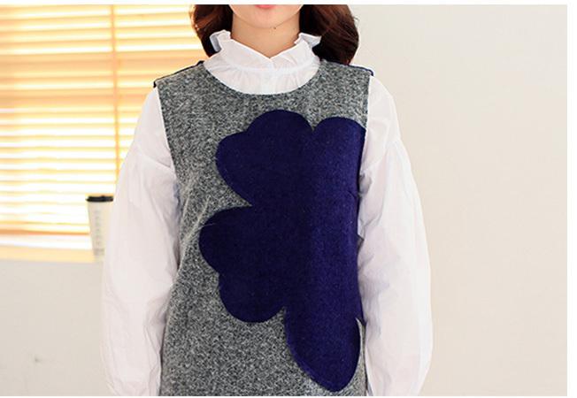 【【甜心教主】花朵背心裙+衬衫两件套】-无类目