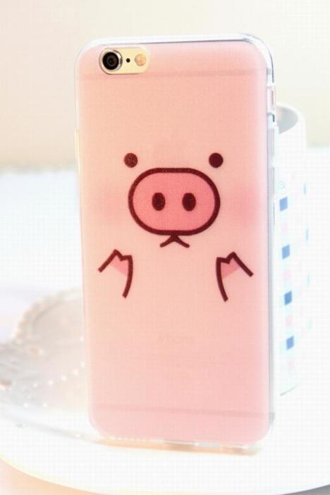 iphone6可爱小猪硅胶软手机壳