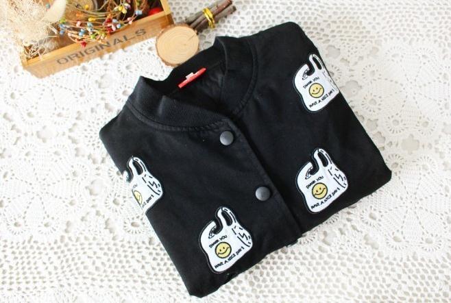 【森系学院风刺绣塑料袋棒球服】-衣服-服饰鞋包_棒球
