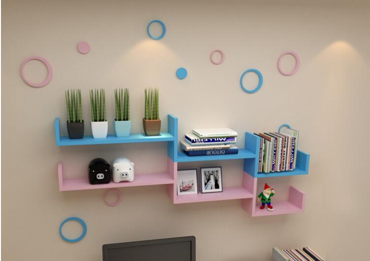 创意书架卧室客厅电视背景墙格子图片
