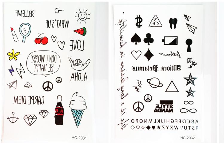【5张包邮】纹身贴/韩国 少女风格 小清新 小可爱