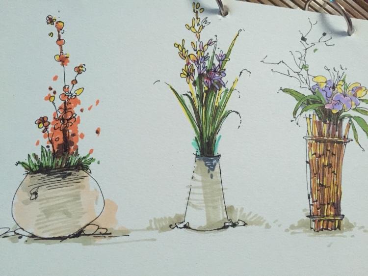 马克笔手绘 承接各种室内外手绘 人物手绘