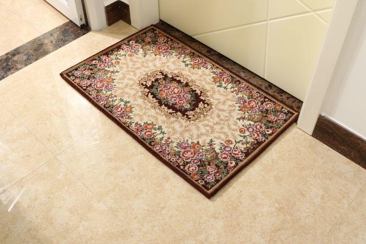 奢华欧式入户地垫 浴室厨房地毯客厅脚垫 卧室门口进门垫子