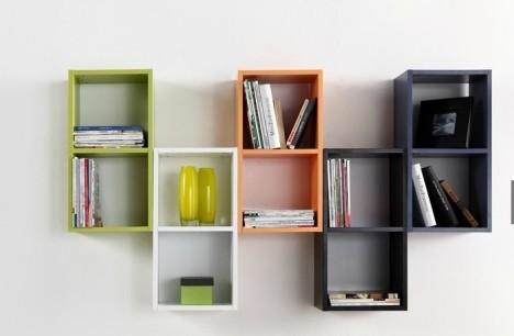 装饰吊柜现代方格柜壁挂书架宜家创意造型隔板俄罗斯方块简易柜子