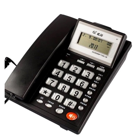 爱信0837 来电显示 电话机免电池座机家用办公