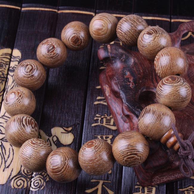 非洲天然鸡翅木佛珠手串男士檀木手链16mm红木念珠