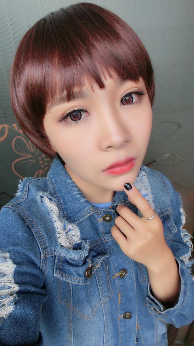女学生有刘海中短发型分享展示图片