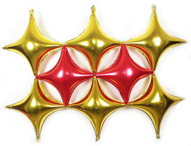 【菱形四角星铝膜气球