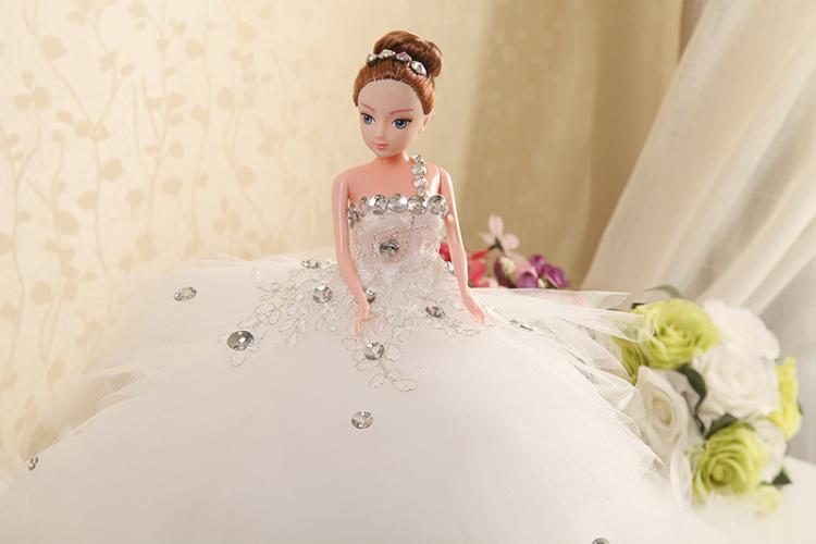手工制作芭比娃娃 少女摆件 公主娃娃 新娘闺蜜儿童礼物