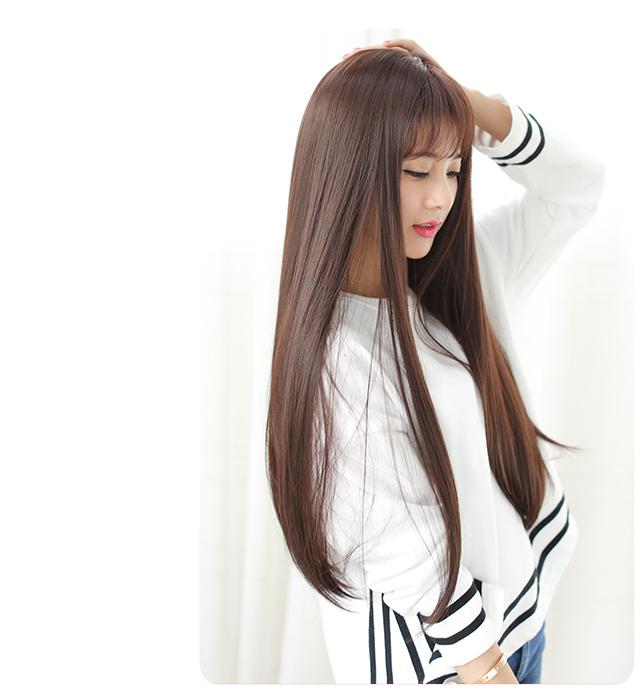 空气刘海长发直发头像分享展示