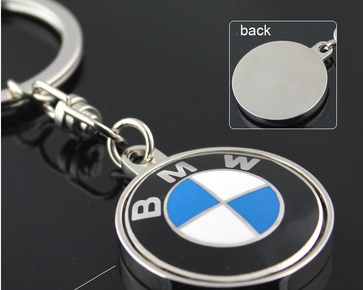 3d镂空宝马车标钥匙扣迷你钥匙链