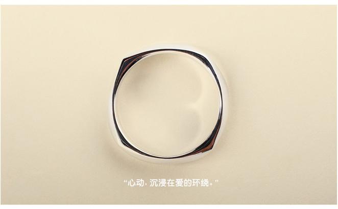 925纯银情侣对戒 原创设计文艺戒指男女 欧美简约复古宽指环