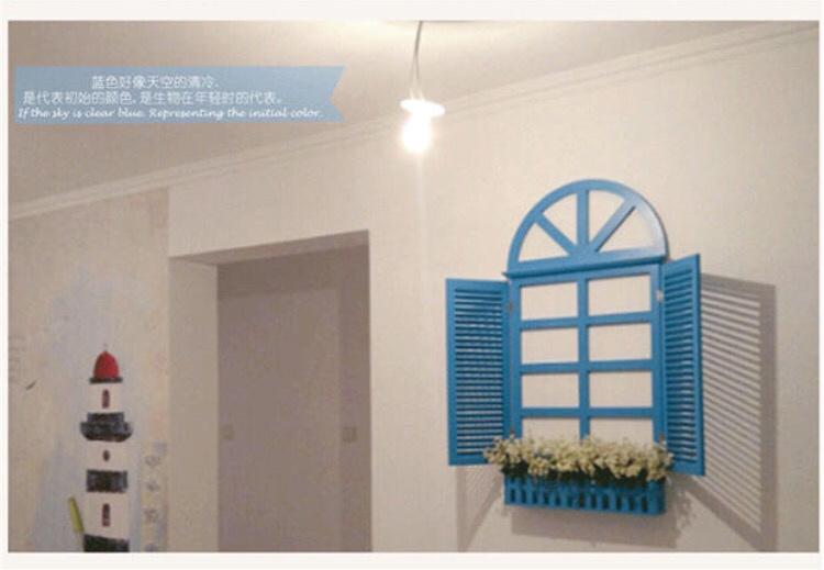 【特大号家居饰品假窗户壁挂地中海风格欧式田园壁饰