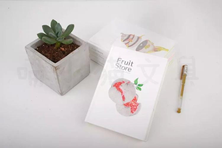 水果铺简约精装本子创意水果设计文艺范笔记本
