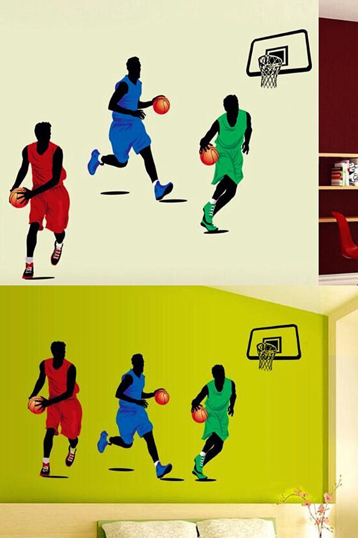 篮球运动儿童房学校体育中心装饰墙贴