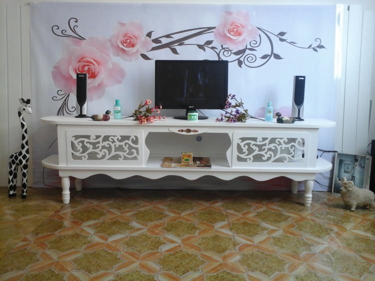 欧式电视柜美式家具影视地柜矮墙柜卧室