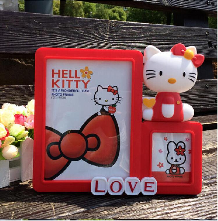 【包邮6寸hello kitty凯蒂猫相框摆台卡通】-无类目
