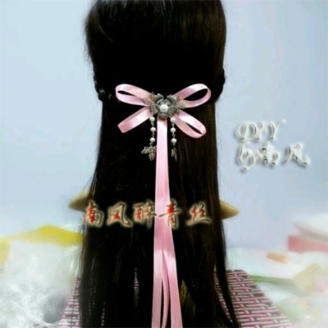 古装发型丝带分享展示