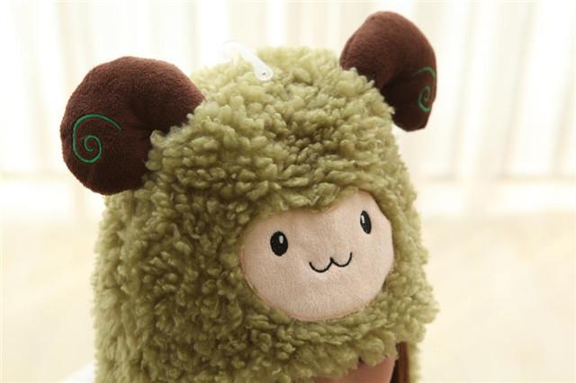【杨洋同款小羊动物帽子款感恩羊卡通头饰表演道具】