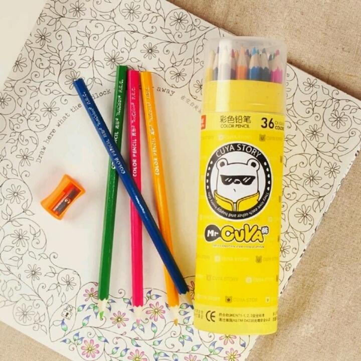 【真彩儿童彩色铅笔36色创意绘画涂鸦涂色彩铅筒】