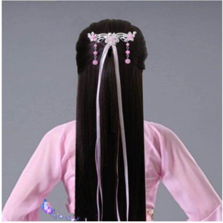 丝带如何扎头发古风分享展示图片