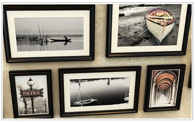 欧式实木照片墙 客厅背景相框墙企业文化墙相框创意组合相框20