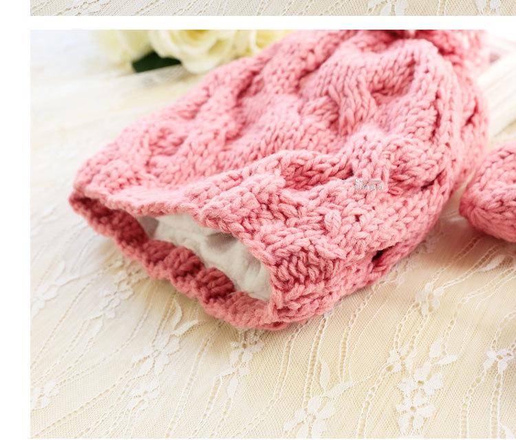 【梧桐微雨】纯手工编织 围巾帽子手套三件套一体套装