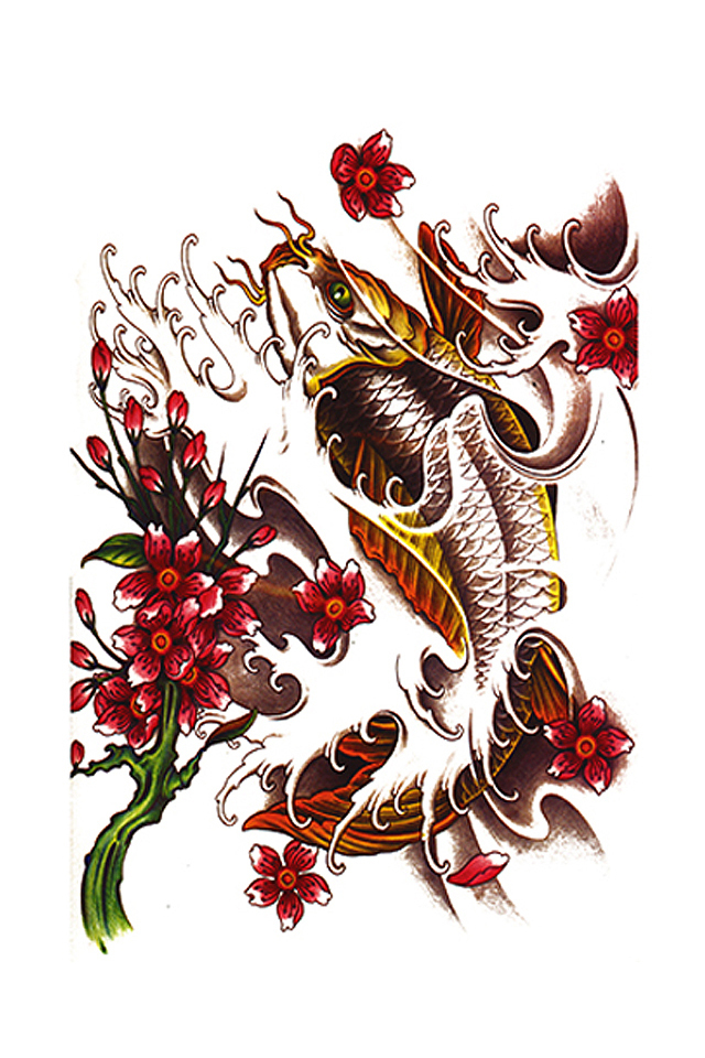 花臂梅花纹身手稿分享展示