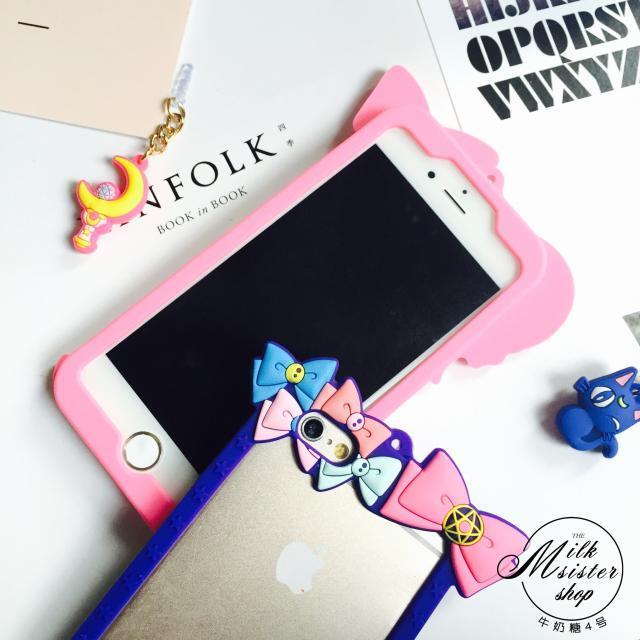 【iphone6s可爱美少女战士边框苹果手机壳6plus硅胶