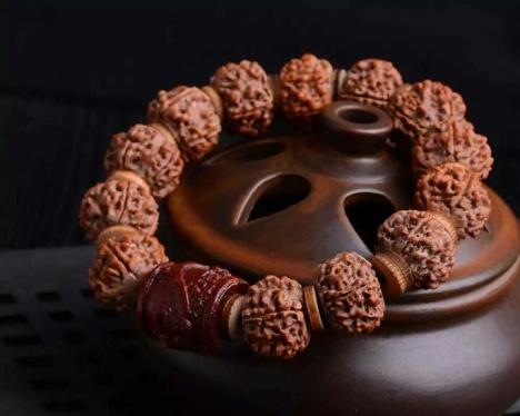 【帝王木龙】天然尼泊尔藏式5金刚菩提子手串