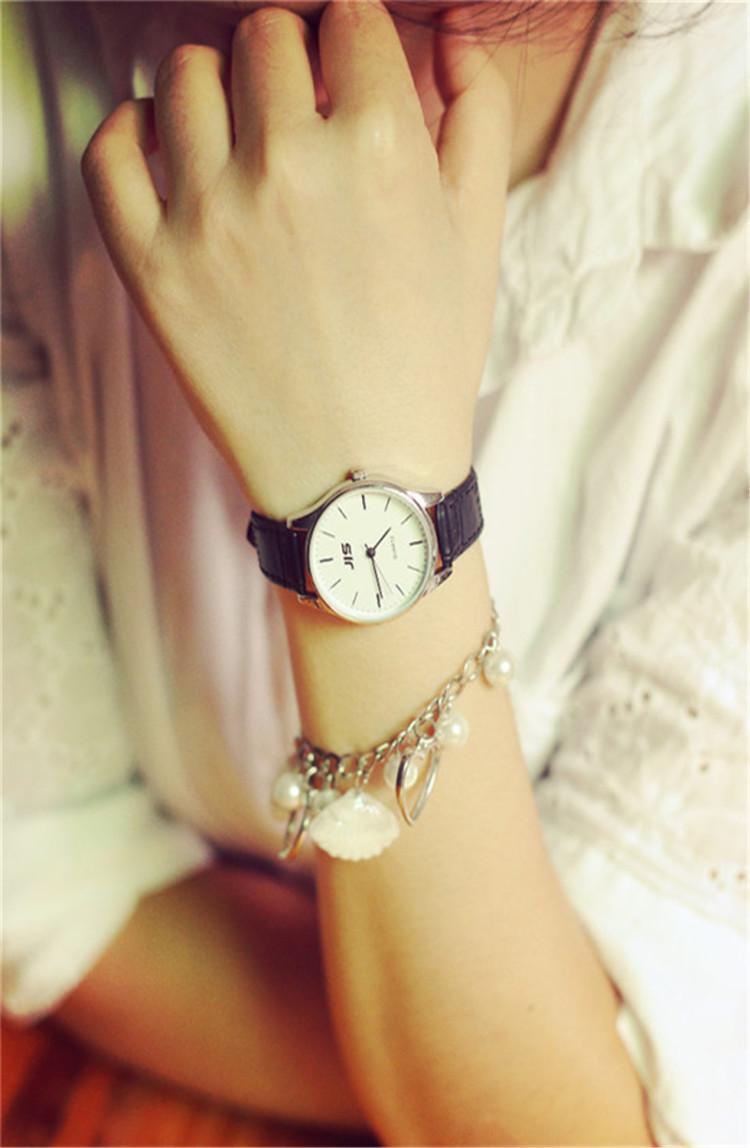 韩国复古风经典手表简约森系小清新女士学生表圆形手表