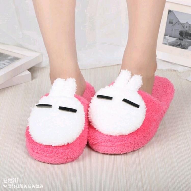 【棉拖鞋女冬季家居拖鞋可爱卡通秋冬室内地板棉鞋鞋