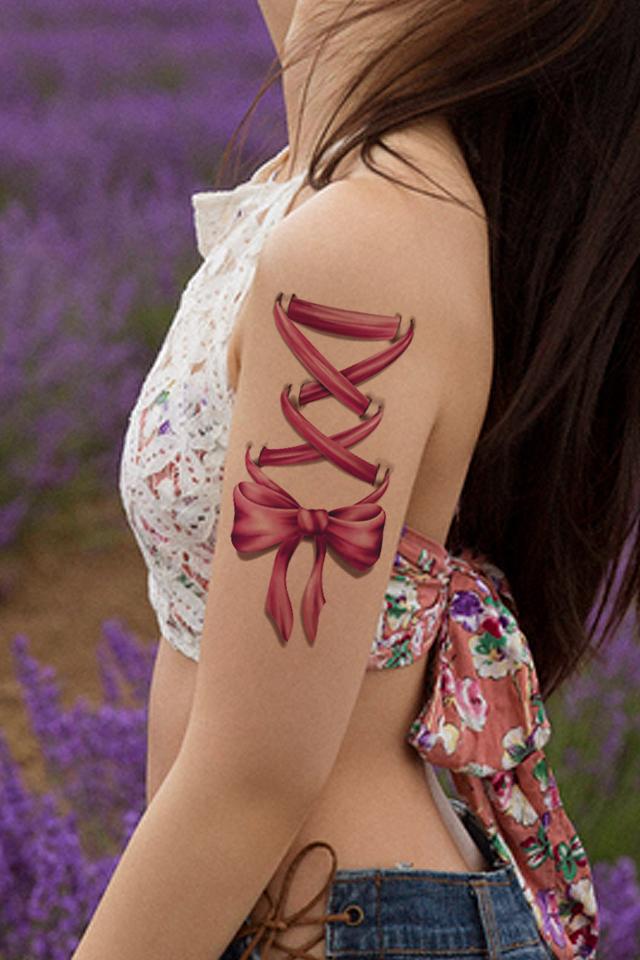 纹身图案 > 花臂纹身手稿女生