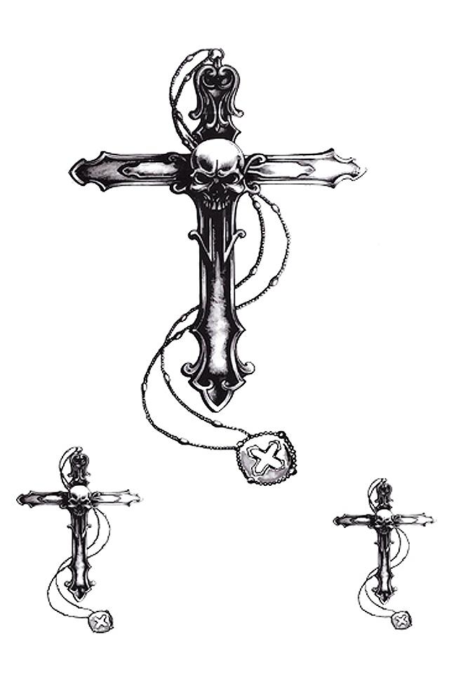 【纹身贴防水女3d刺青仿真手臂权志龙十字架手指小