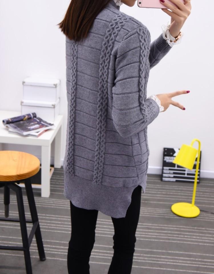【加厚款麻花花边领毛衣】-衣服-服饰鞋包