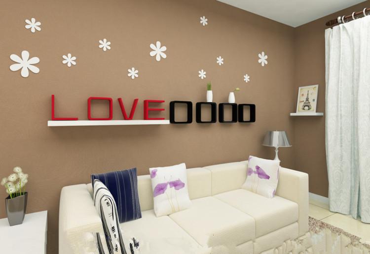 【墙上置物架壁挂客厅电视背景墙装饰架墙壁置物架】