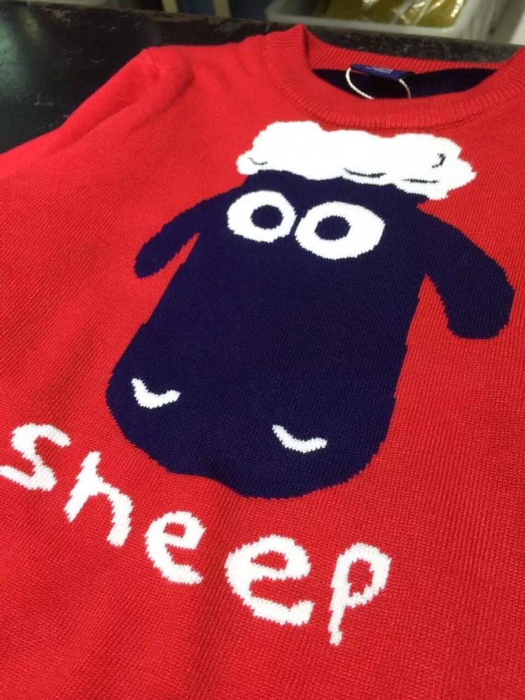 小羊肖恩毛衣编织图解