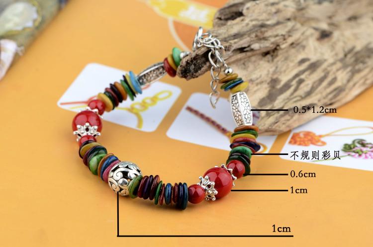 【云南民族风饰品藏饰手串复古女款特色彩色西藏手链
