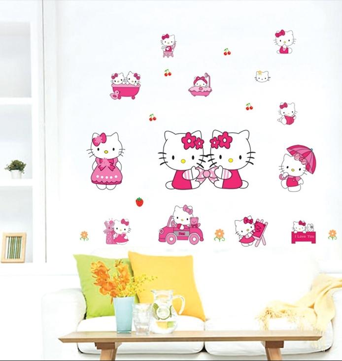 凯蒂猫hello kitty墙贴纸