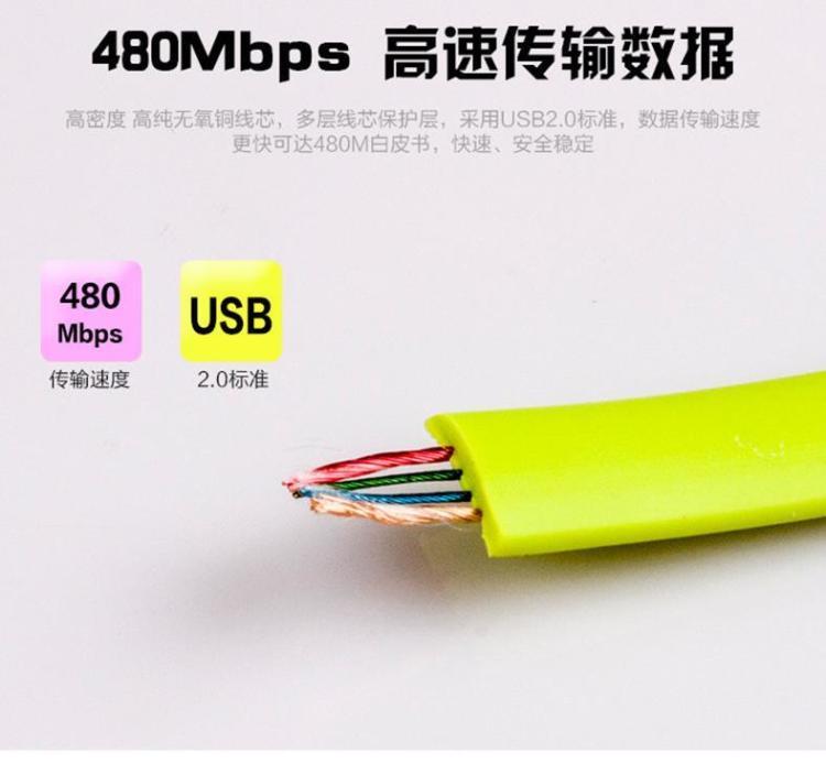 【创意手镯手环数据线苹果56安卓数据线usb短充电线