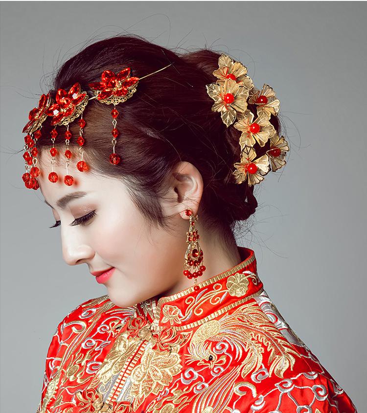 皇冠古装结婚当天发型分享展示图片