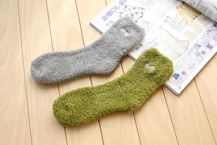 3双装 秋冬季珊瑚绒袜子