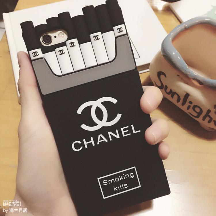 【潮牌黑白个性香烟苹果手机壳】-无类目-3c数码配件