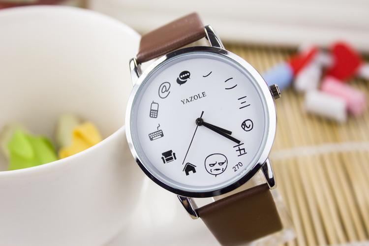 简约休闲可爱时尚电子卡通图案糖果色运动指针式情侣手表