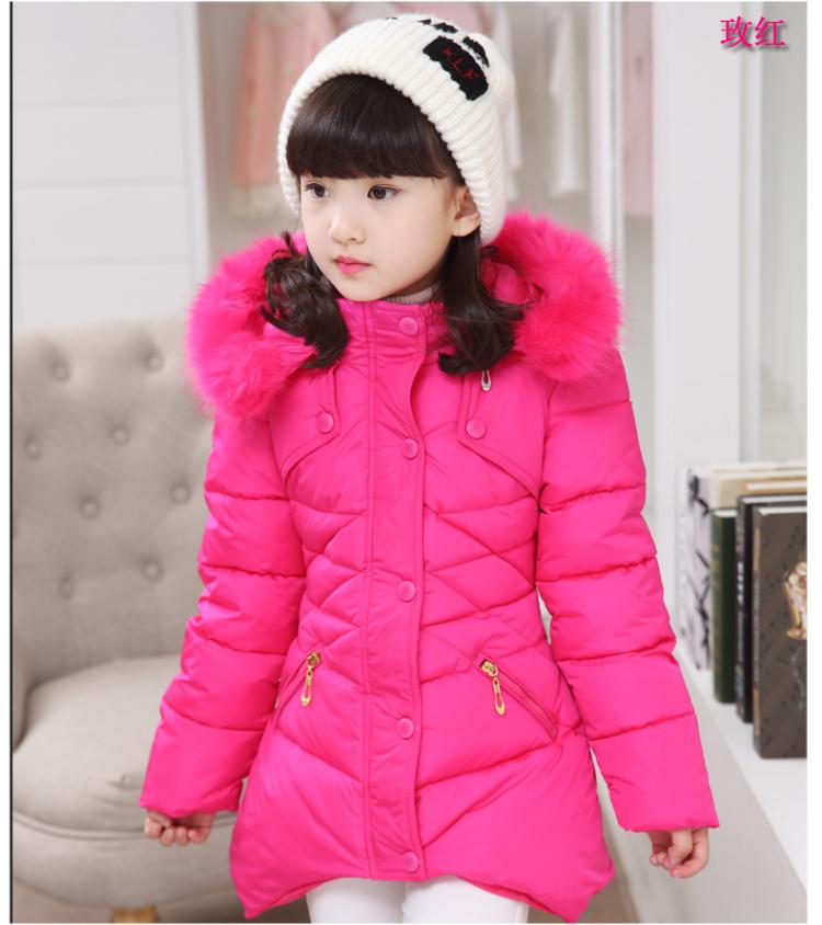 童装女童冬装棉衣外套中大童女装棉服13儿童冬季加厚棉袄15岁