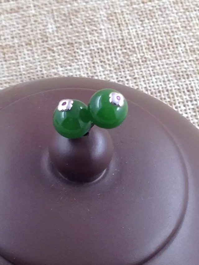新款碧玉圆珠耳钉925银镶嵌耳环