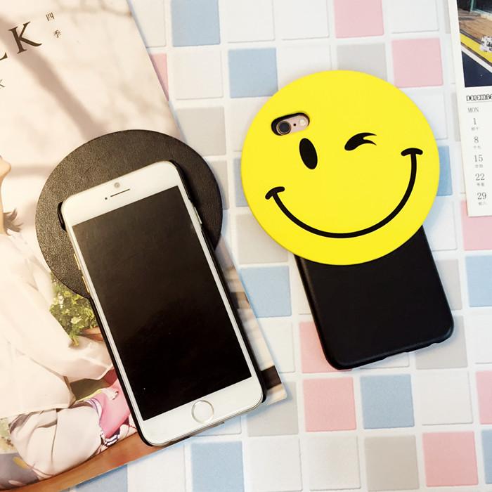 【韩国笑脸iphone6s手机壳卡通6plus情侣保护套4